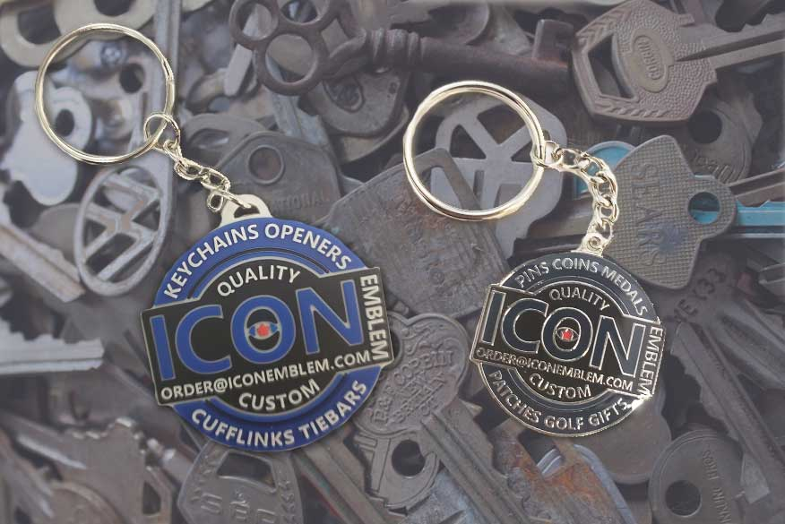Custom Metal Keychains and PVC Keychains from ICON Emblem